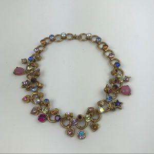 Otazu handmade crystal necklace choker brass